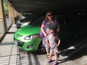 A very green car