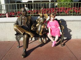Rosemary with Walt and Mickey